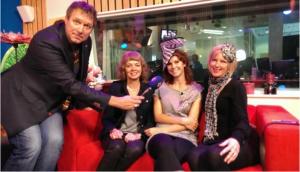 Den Haag TV opname omroep west Debbie en haar mannen