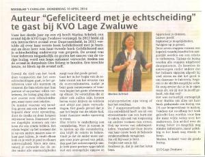 2 april Lage Zwaluwe lezing over Gefeliciteerd met je echtscheiding